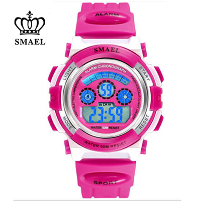 New Girls LED Digital Sports Watches Dress Watches for Kids S Shock Sport Wristwatches Waterproof Shockproof Colorful SL0704b