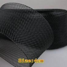 """1,""""(4,0 см) Плоский жесткий плотная Crins волос конский кос отделка для женщин шляпа 100 Двор/лот#2 Цвет"""