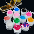 12 Color Solid UV  Gel Pink White nail Brush False Nail Tips Paint Gel Polish Gel Pure UV Builder Gel Set Nail Art Salon