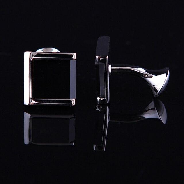 Фото запонки kflk мужские черные ювелирные украшения для рубашки