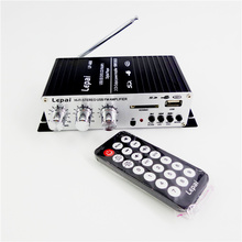 Lepy LP - A68 multi-functional household motorcycle portable amplifiers FM SD USB MP3 USB card stereo audio car power amplifier(China (Mainland))