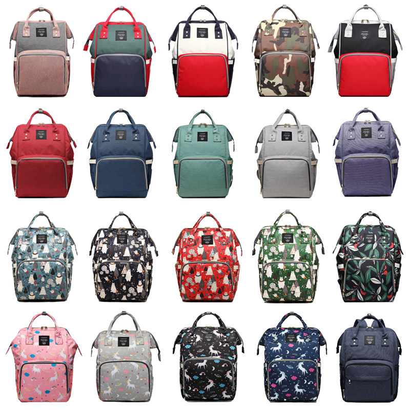 41 Colors Backpack For Mom Lequeen Baby Bag With Anti-loss Zipper Baby Bags For Mom Maternity Bag For Stroller Bolsa Maternidade