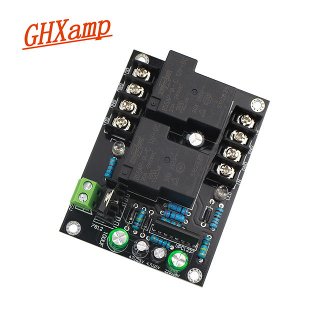 Ghxamp 30A UPC1237 Speaker Protection Board For Amplifier High Power Stereo Loudspeaker Protection Finished Board AC 12V 16V 1PC