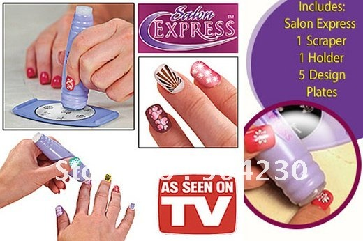New Salon Express Nail Art Kit Sting Set Tv Hot S Image Plate Ster Printer Ser Knife Dropshipping Retail In Templates From