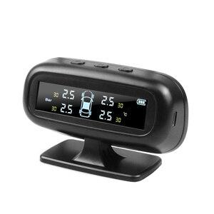 Image 3 - 자동차에 대 한 보편적으로 태양 tpms 자동차 타이어 압력 알람 모니터 시스템 표시 온도 경고 연료 4 센서와 저장