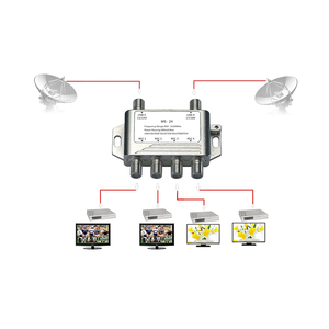 Image 3 - 2x4 DiSEqC Satellite Stand Alone MultiSwitch FTA TV LNB Switch Cascade 2 in 4 multiswitch 2 LNB 4 REC  For DVB S2 and DVB T2