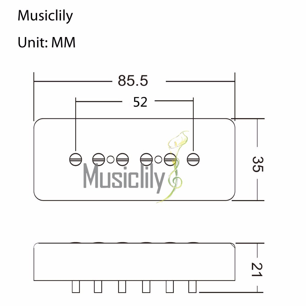 Musiclily Pro 52 Mm P90 Soapbar Single Coil Bridge Pickup For Les Tele Wiring Diagram Paul Lp Sg Electric Guitar Cream In Parts Accessories From Sports