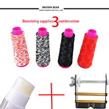 combination Archery Accessory Bow string Material+Bowstring Wax+Bow string serving Jip For Recurve Compound Bow Hunting 3 8 aluminum archery cable slide compound bow string splitter roller glide cable slide bow string separator for compound bow