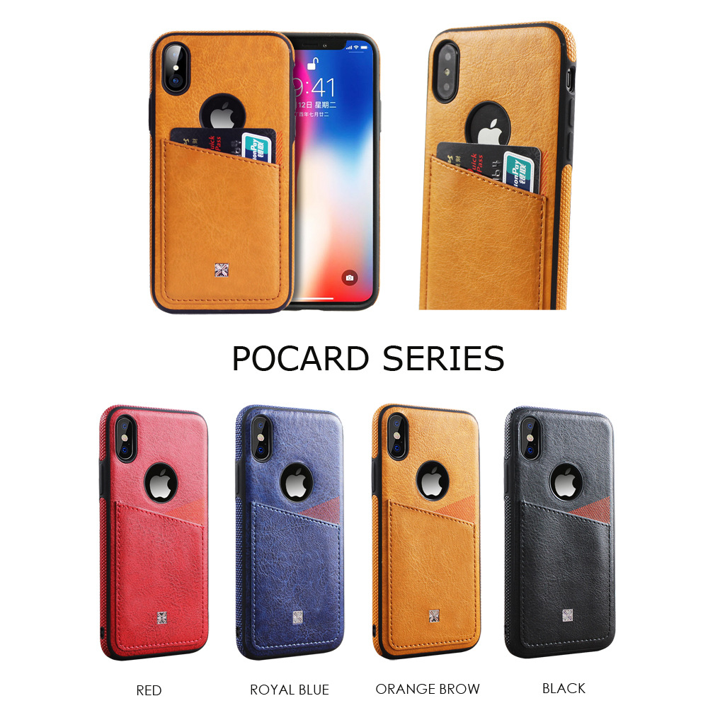 Schlank PU Leder Fall für <font><b>iphone</b></font> XS Max XR Karte Slots Phone <font><b>Cases</b></font> Abdeckung Für <font><b>iphone</b></font> X 8 7 Plus 6 6 s Fall Coque Fundas <font><b>Capa</b></font> image