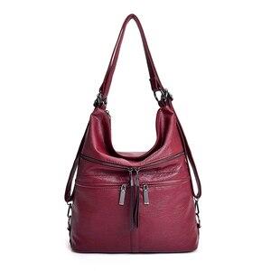 Image 3 - Multifunctional ladies handbags girls luxury diagonal bags ladies bags designer handbags backpacks ladies travel shoulder bags