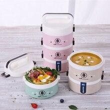 Портативный Ланч-бокс пластиковый герметичный Бенто-бокс изолированный Ланч-бокс для микроволновой печи с подогревом контейнер для еды чехол для пикника коробка для еды