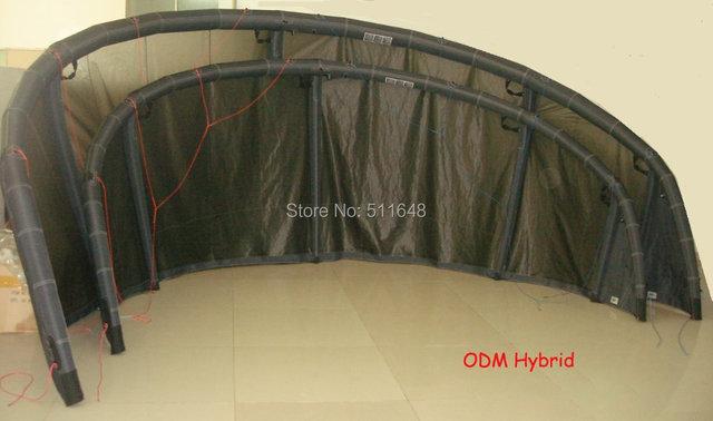 Free shipping New Design OEM 12m2 5 Sturts Hybird Kiteboarding Kite