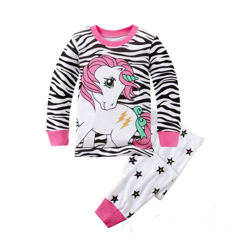 Kids Girls Clothes Set Children girls Clothes Baby Girl Sleepwear Long Sleeve Leisure Wear Toddle Cute Cartoon Pajamas suit ...