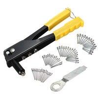 High Quality New 60pcs Set Pop Riveter Gun Kit Blind Rivet Hand Tool Set Gutter Repair