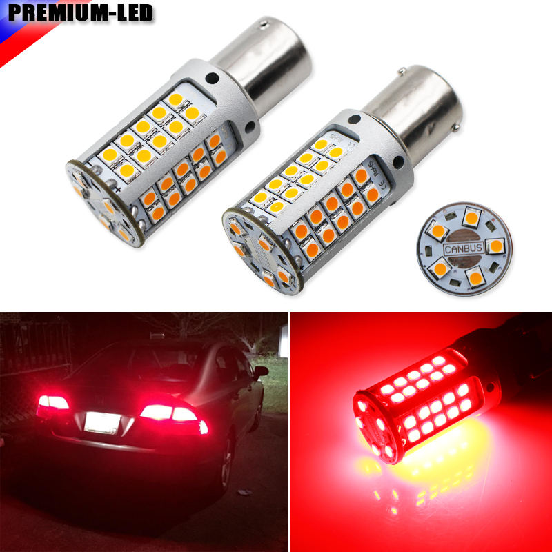No Hyper Flash 21W High Power Red BAU15S 7507 <font><b>PY21W</b></font> <font><b>LED</b></font> <font><b>Bulbs</b></font> For Car Turn Signal Lights, Tail Lights, Brake Lights,CANBUS image