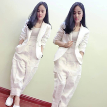 Women's suit female  spring new style personality Europe and the United States style Slim casual street clothing two / piece set цена 2017