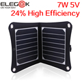 ELEGEEK 7 W 5 V Plegable Panel Solar Sunpower Cargador Solar de Alta Eficiencia con la Bolsa De Almacenamiento Portátil Al Aire Libre para el Teléfono Móvil PSP