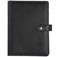 Refillable Spiral Snap button notebook pure black high level organizer accounts recording A5 A6 kross level a6 2013