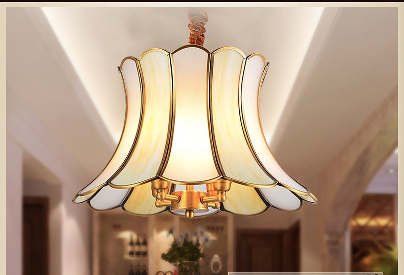 D330mm 40W Brass Pendant Lamp, 3 Lights, Vintage Total Copper Glass AC110V/220V Free Shipping 330mm and 380mm for Selection total total dynatrans ac 30 20