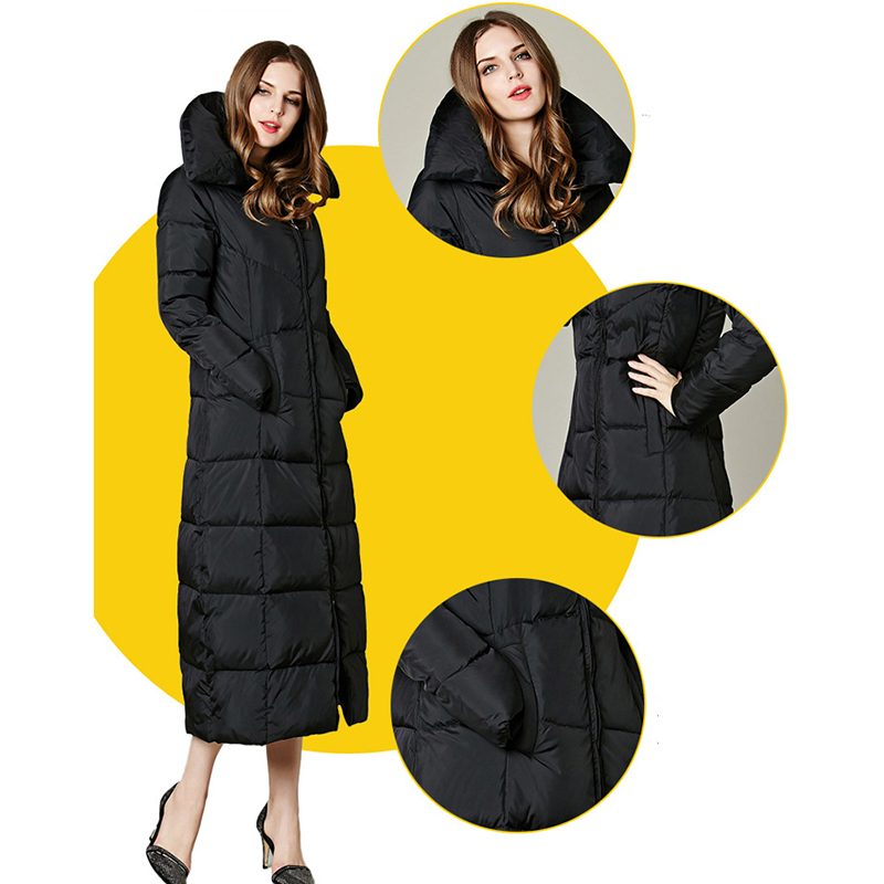 Women Winter Long Down Jacket Women Parka Coat Jacket Medium Length Woman Parka Winter Thick Coat Women Plus Size Coats maternity women winter down coat jacket large medium length parka fur collar pregnant thick hooded coats plus size l 2xl e629