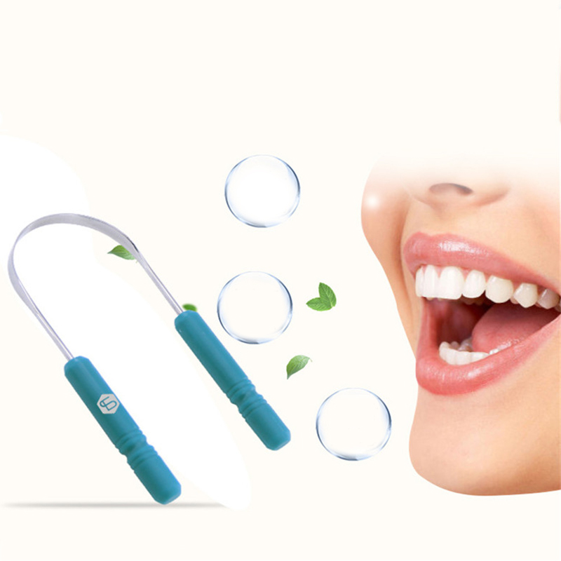 RORASA Healthy Tongue Cleaner Stainless Steel Silica Handle Tongue Scraper Oral Hygiene Dental Cleaning Brush Oral Care 4
