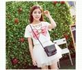 Pink&Blue Sailor moon t shirts Sailor cheap t shirt Wholesale Summer HARAJUKU Juniors Cartoons Bow printed t-shirt Casual Cotton