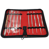 10 pcs Dental Lab Equipment Wax Carving Tools Set Carve Clay Tool Blade Surgical Dentist Sculpture Knife Instruments Tool Kit