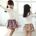 Осень-Летние Дети Девушки Цветочные Юбка Печатные multi-проекты Дети Цветов Юбки Скутер 3-10 Лет