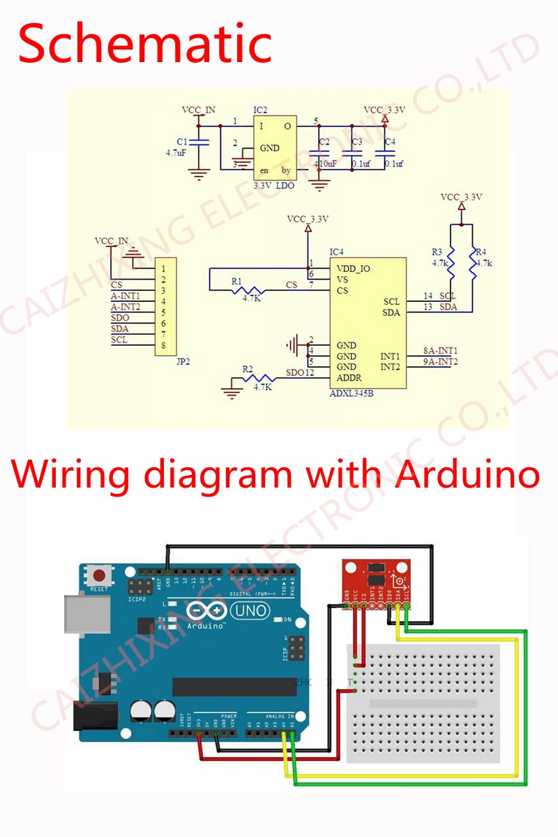 10pcs Gy 291 Adxl345 3 Axis Digital Gravity Sensor Acceleration Interfacing Tripleaxis Accelerometer With Atmega 16 Circuit Diagram Power