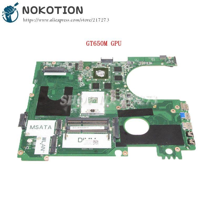 NOKOTION For Dell Inspiron 17R 7720 Laptop Motherboard DA0R09MB6H1 CN-072P0M 072P0M DDR3 GT650M Discrete graphics nokotion da0im3mbag0 rev g cn 0k184d k184d for xps 1340 pp17s laptop motherboard nvidia geforce 9200m graphics ddr3