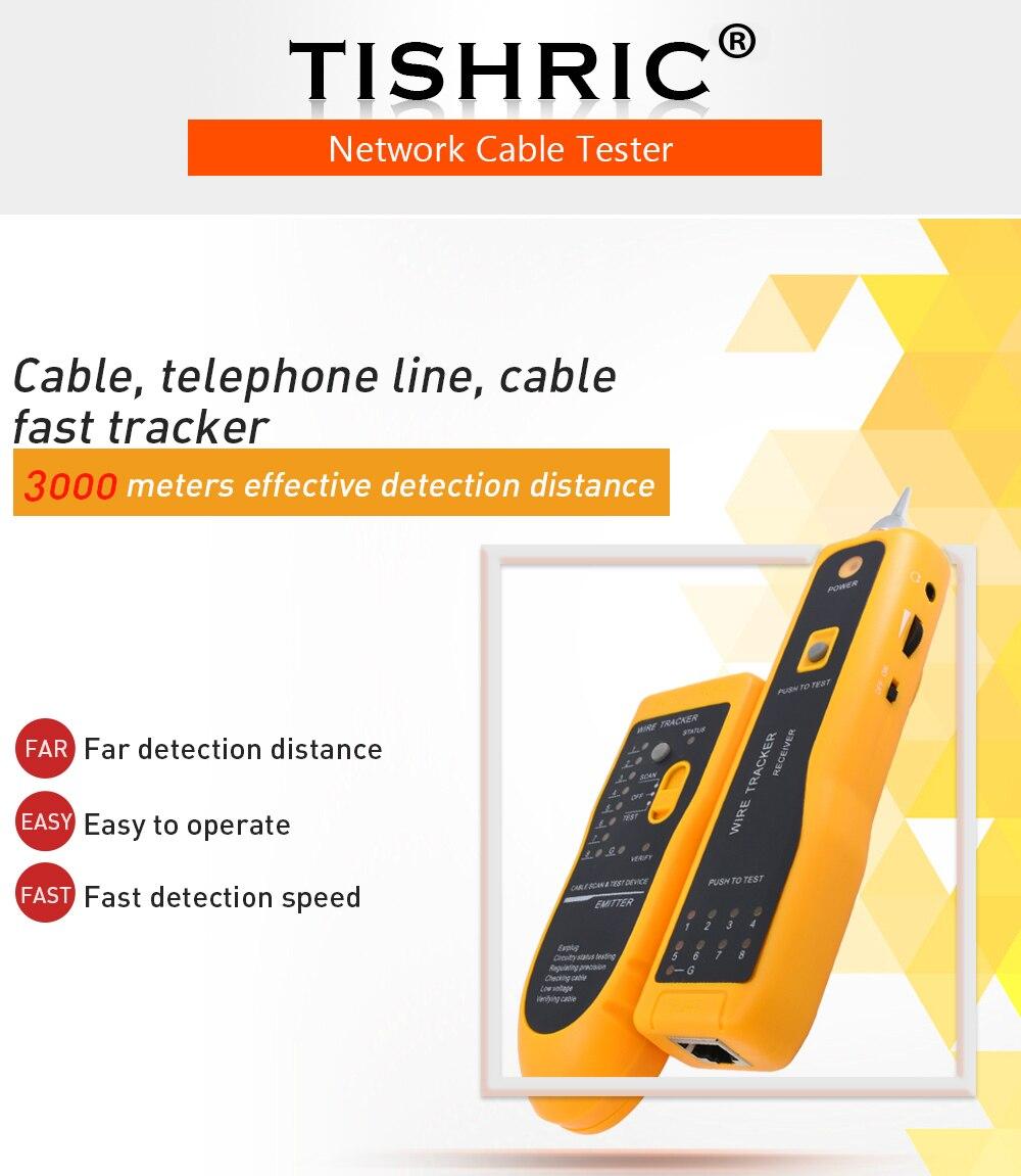 Tishric Jw 360 Lan Network Cable Tester Cat5 Cat6 Rj45 Utp Stp Line Wiring 008 01