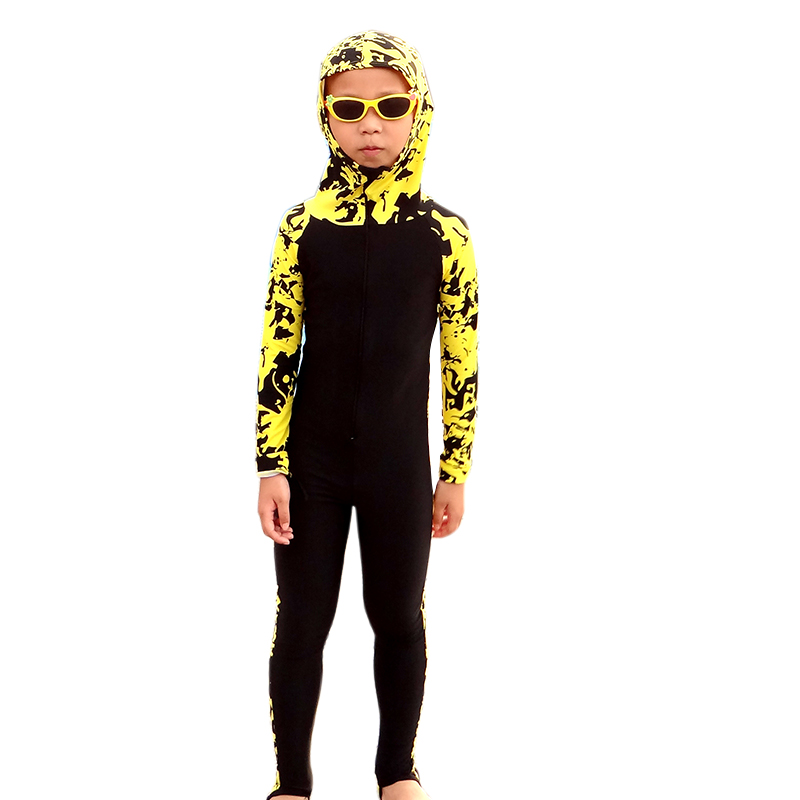 Kids Long Sleeve Hooded Floral Diving Suit Full Body Swimwear Lycra Surf Wetsuits Children Surfing Wet Suits swimsuit lifurious wetsuits women surfing neoprene surf swimsuit wetsuit for swimming women pink swimwear surfing diving suit long sleeve