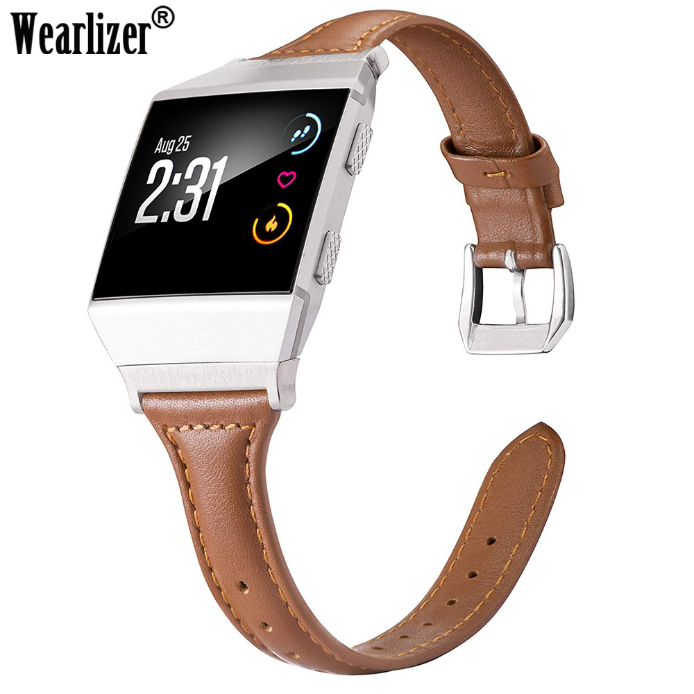Multicolor Watch Strap For Fitbit Ionic Leather Bands Genuine Leather Replacement Accessories Straps For Fitbit Ionic