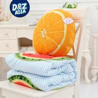 Simulation fruit pillow tree stump versatile pillow sofa cushions blanket wholesale