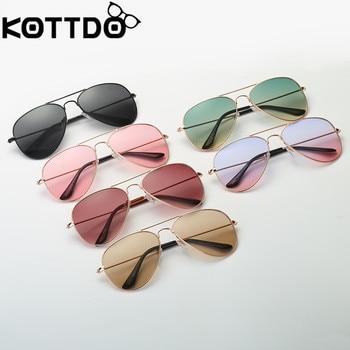 KOTTD Kids Sunglasses UV400  Sun Glasses Round Cute children sunglasses boy girl child glasses Gift Oculos de s