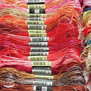 10/20/ 40/50 шелковая вышивка, 100% Шелковая нить, Spiraea вышивка шелковой нитью, маленькие палочки для ручной вышивки крестиком