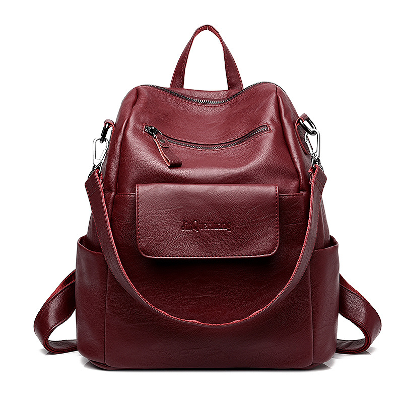 Backpack Pu Leather Women Travel Laptop Backpack Ladies Backbag Female School Cute Mochila Daypack Bagpack Shoulder Bag