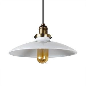 Image 2 - Loft Vintage Lampada A Sospensione Dia 250 millimetri E27 di Alluminio, Metallo, Ferro Retro Nord Europa Stile Industriale Edison Lampade a sospensione