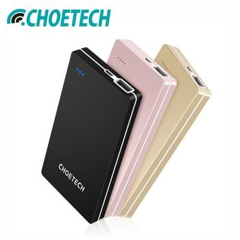 Banco de potencia 10000 mAh para iPhone CHOETECH Batería Externa de cargador de teléfono móvil portátil banco de energía para Samsung Galaxy S8 Poverbank