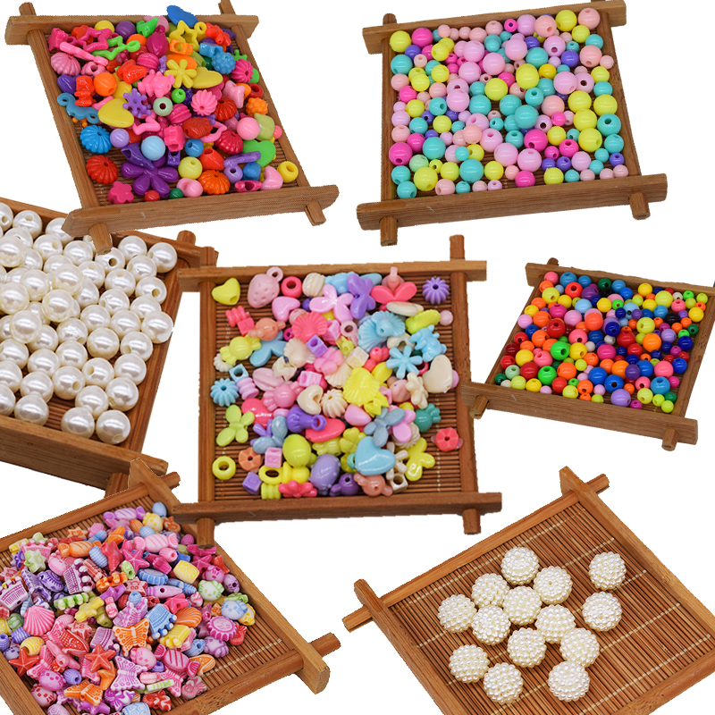 50 PCS Beads Toy For Children Fit DIY Bracelet/Jewelry Making Funny Kids Handwork Entertainment Handmade Fitting New Wholesale