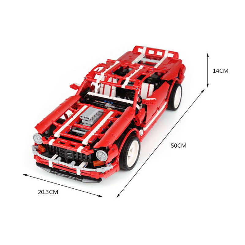 Creative MOC Model Series The 2014 Muscle Car Set Educational compatible legoinglys Building Blocks Bricks Toy For Children Gift