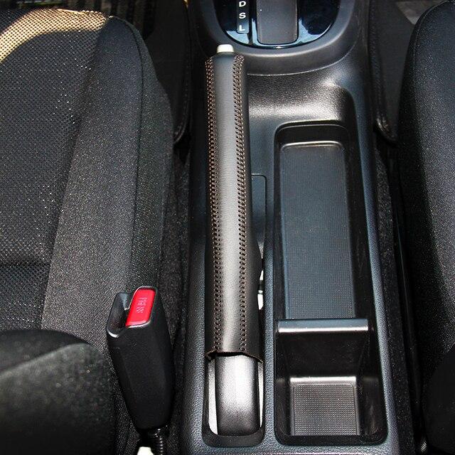 ea2e657c5 LS AUTO Top Estojo de couro genuíno para travão de mão Para Honda CITY 2014  tampa