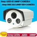 Камера высокого разрешения 2 шт. массив ик-светодиодов 40 м расстояние 0.001lux металл экранное меню sony imx322 + ahd 1080 P 2.0mp водонепроницаемый камера