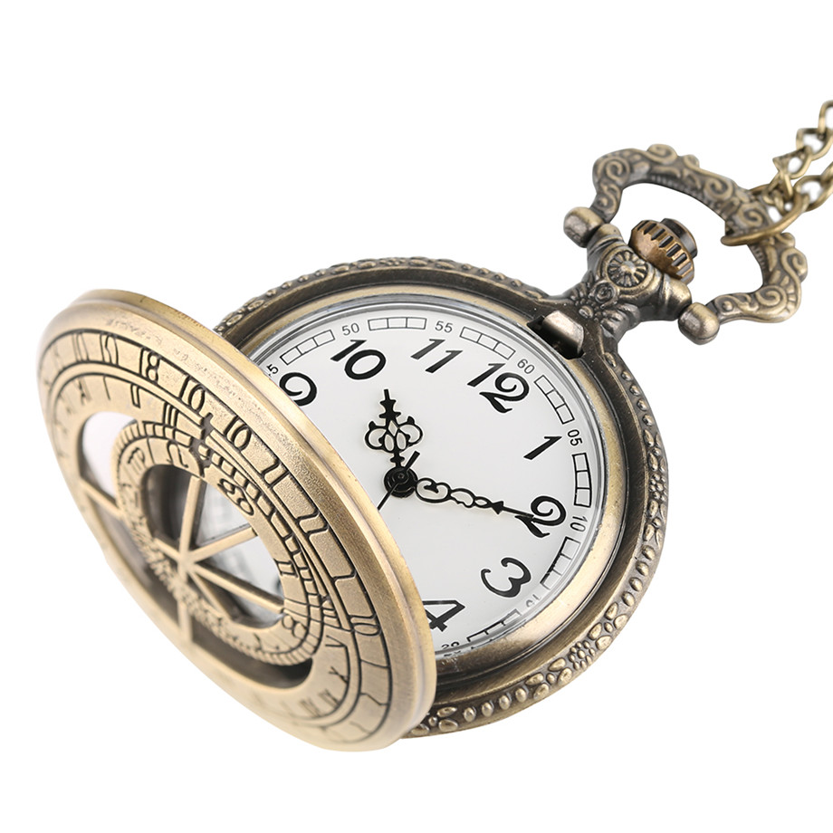chain antique pendant numerals product fob gifts pocket roman necklace watch clock for watches quartz jewelry vintage