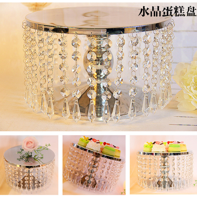 Inch Crystal Cake Stand For Party Cake Accessory Cupcake Stand - Cupcake chandelier stand crystals