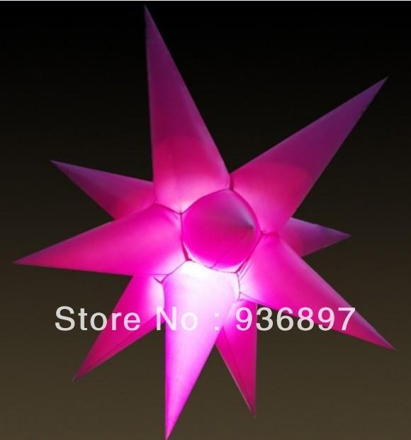 1.2 M inflable estrella de 11 puntos, con luz LED y ventilador interno, precio más bajo, envío gratis