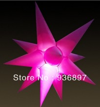 1.2M inflatable star 11spikes, with LED light and inner blower, lowest price, free shipping