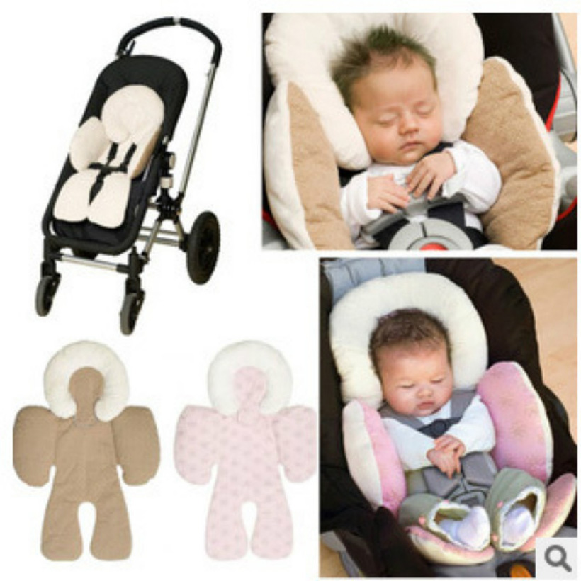 Portable Baby Safety Seat Car Pram Pushchair Thickening Baby Head Cushion kids child Pad Dual-used Car Pillow Mat auto enfant