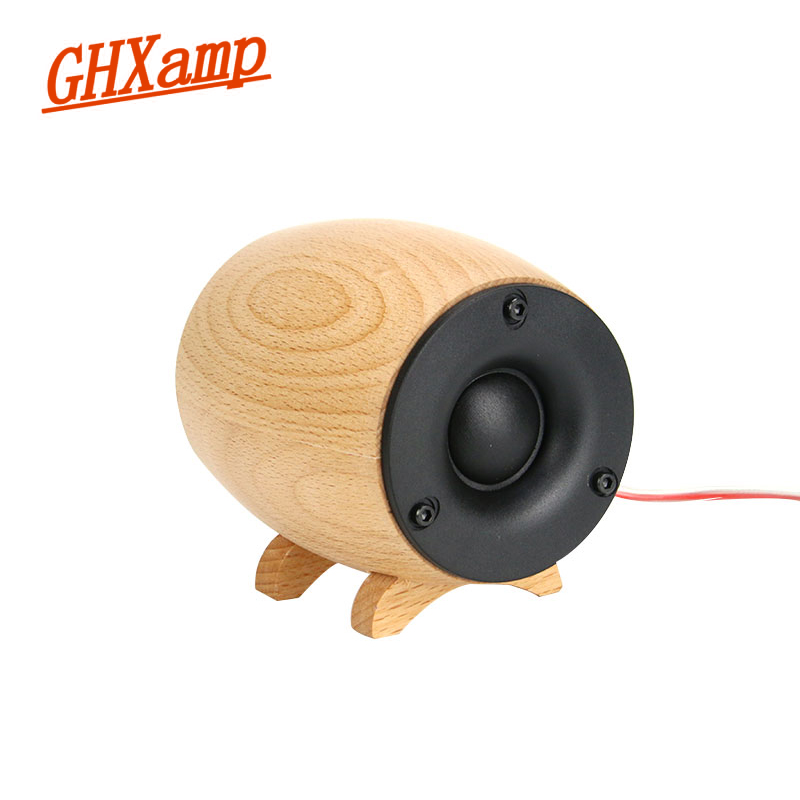 GHXAMP 2PCS Altoparlante Tweeter in legno massello HIFI Super Treble Sound Box Home Theater KTV Full Range Tweeter Compensation Neodimio