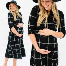 c95c51afc01983 (nave da US) 2018 Nuove Donne Incinte Sexy Fotografia Puntelli Casual di  Cura Boho Chic Tie Lungo Vestito di maternità gravidanza abiti vesti.
